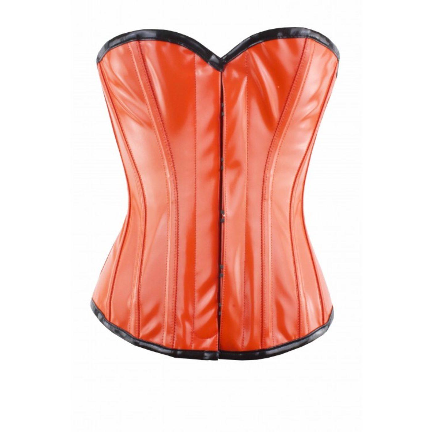 Orange PVC Corset