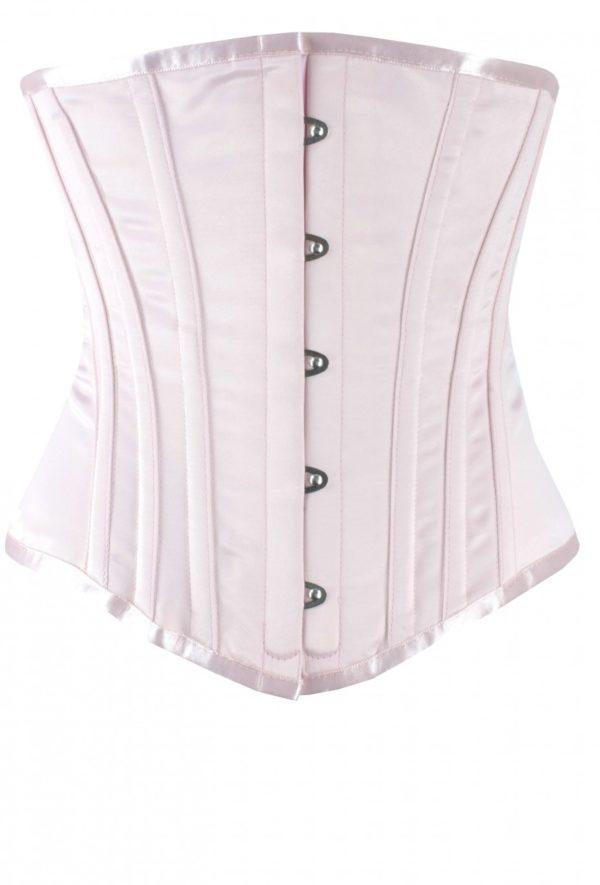 Lusso   Underbust Waist Training Corset   Pink Satin