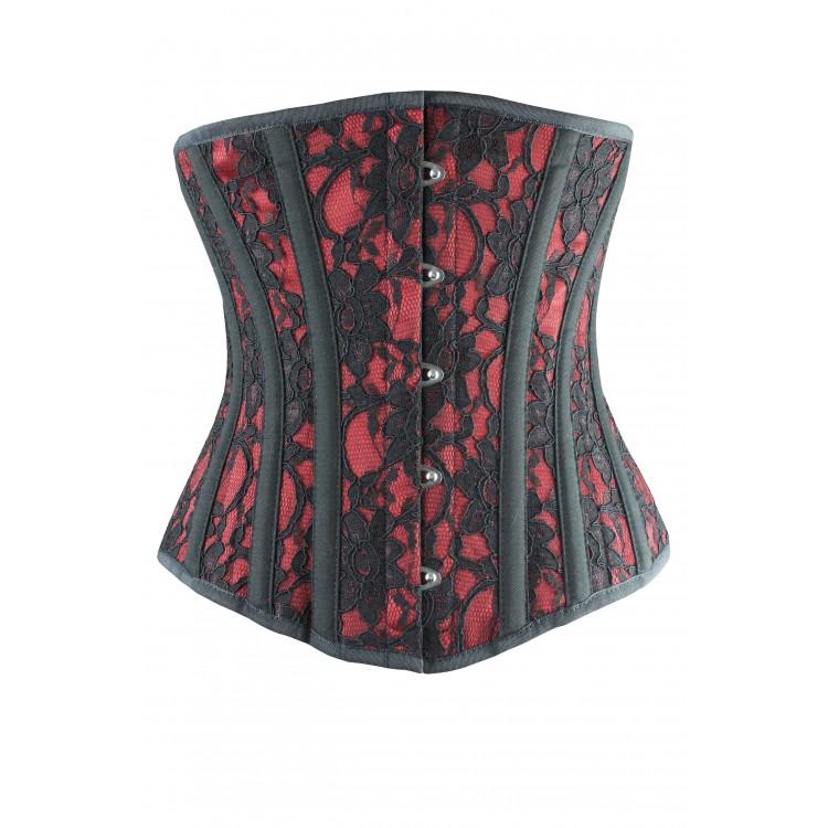Lusso | Red Satin Waist Training corset