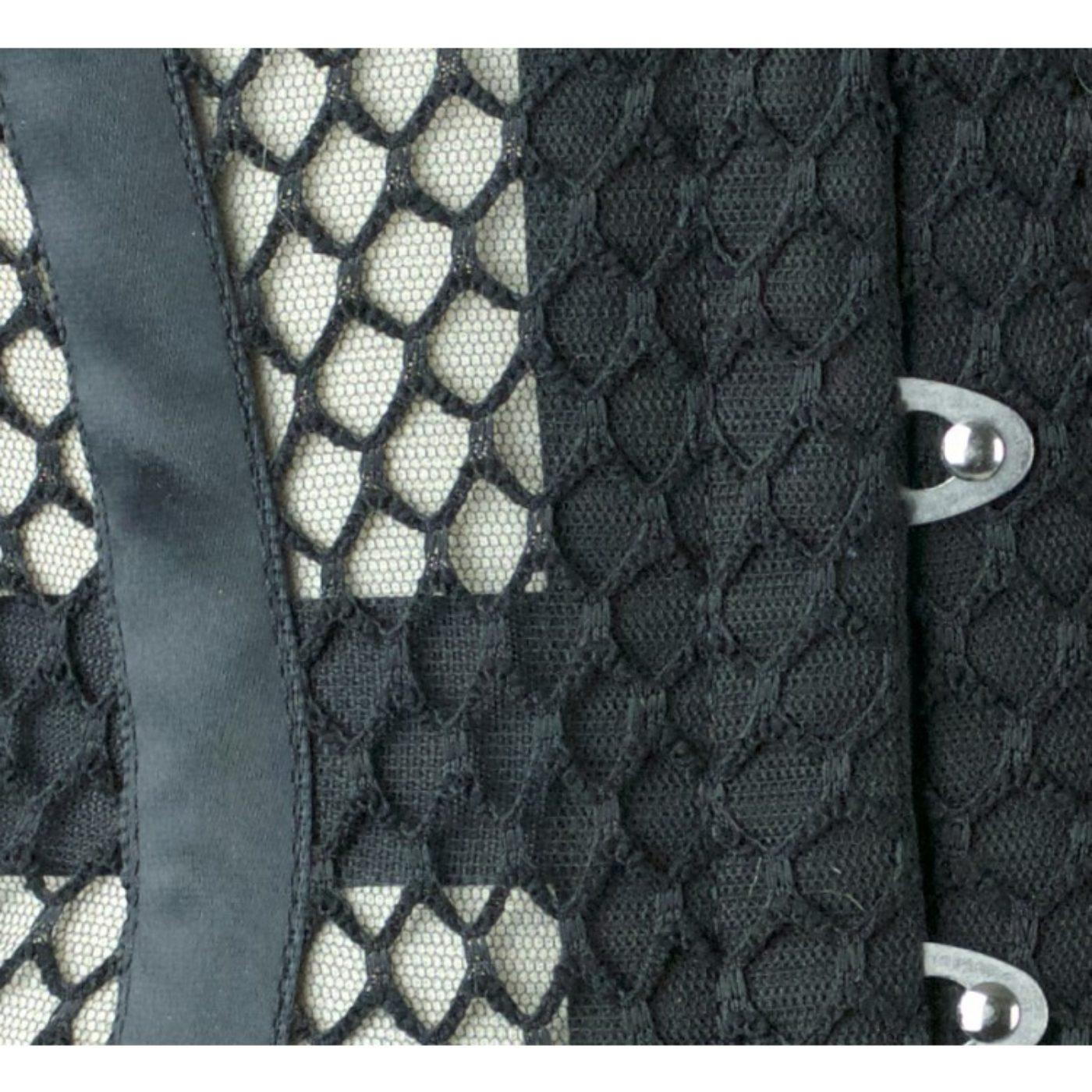 Close up black mesh image